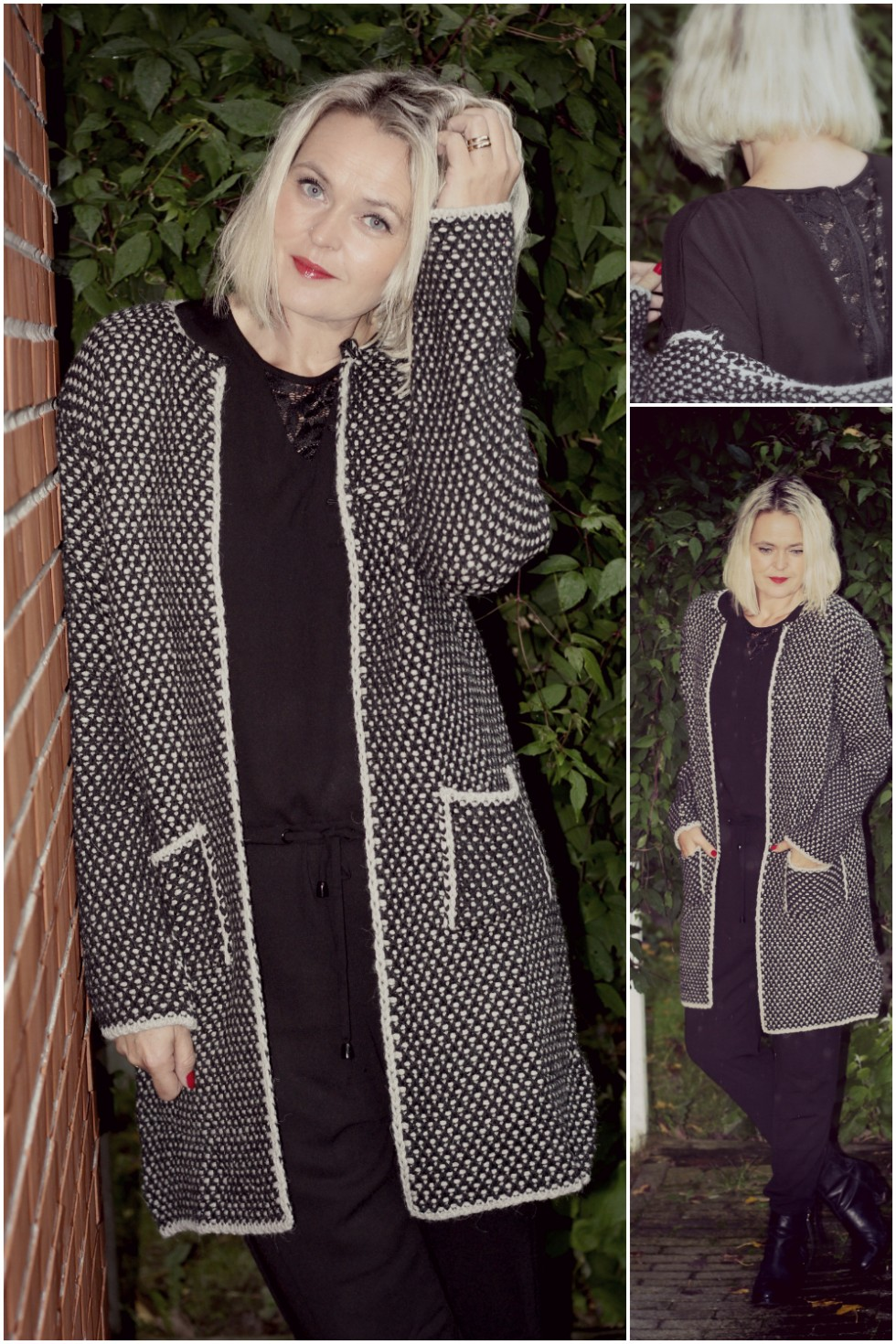 Lundgaard strik black swan jumpsuit outfit