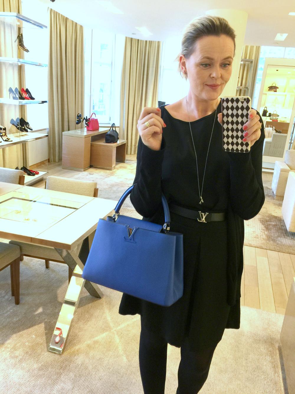 Louis Vuitton blå capucines