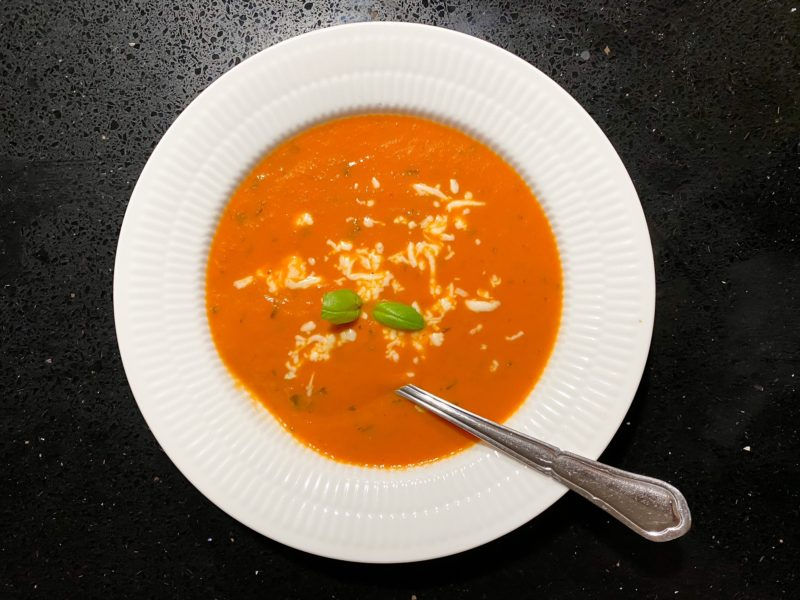 cremet tomatsuppe uden laktose