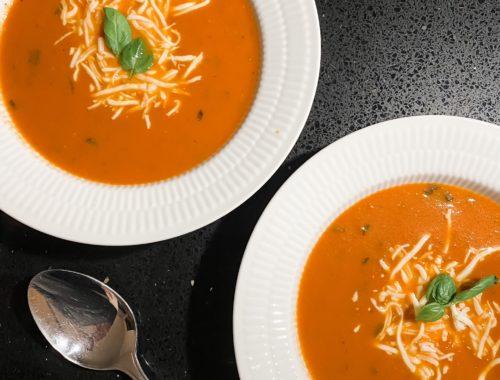 hjemmelavet cremet tomatsuppe opskrift