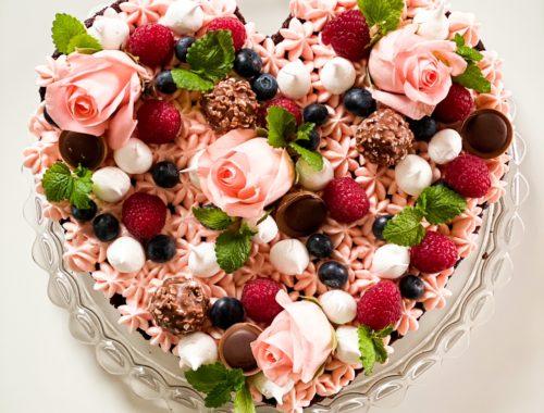 hjerteformet kage valentinsdag